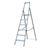 Lyte Platform Step Ladder Aluminium 6 Treads 1.9m