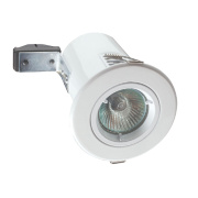 Robus Fixed Round Mains Voltage Fire Rated Downlight White 240V Pk10