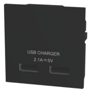 LAP USB Charger Grid Module Black