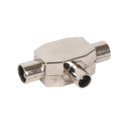 Labgear 19132R/S 2 Way Metal T Splitter