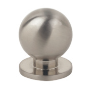 Fingertip Design Solid Round Knob Satin Chrome 30mm