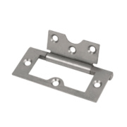 Flush Hinge Self-Colour 76 x 33mm Pack of 2