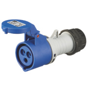 200-250V MK Commando Interlocked Straight Socket 2P+E (IP44)