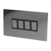LAP 4-Gang 2-Way 10AX Light Switch Black Nickel