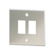 Varilight XDSPG2 2-Gang PowerGrid Faceplate Metal