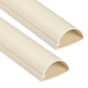 D Line Semi Circular Trunking Magnolia 50 x 25 1.5m Pack of 2