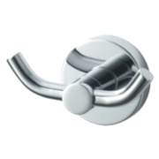 Aqualux Haceka Kosmos Bathroom Double Robe Hook Chrome 90 x 53 x 50mm