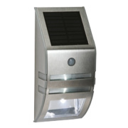 LAP Solar Powered LED Bulkhead with PIR & Photocell Silver