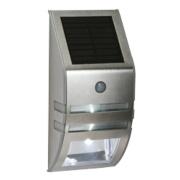 LAP Solar Powered LED Bulkhead with PIR & Photocell Silver