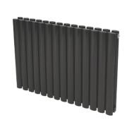 Reina Neva Double Panel Designer Radiator Black 550 x 413mm 2356BTU