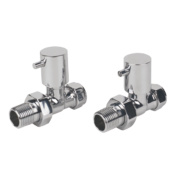 Roma Straight Radiator Valve 15mm Pair