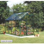 Halls Popular Greenhouse Green Toughened Glass 6 x 8 x