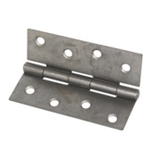 Steel Fixed Pin Hinges Self-Colour 101 x 72mm Pack of 2