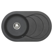 Astracast Cascade 1 Bowl Kitchen Sink w/Reversible Drainer Italian Black