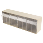 Wall Mounted Clearbox 4 Compartment Unit