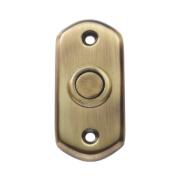 Carlisle Brass Shaped Door Bell Push Florentine Bronze 74 x 35mm