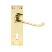 Victorian Scroll Lever On Rose Straight Door Handle Pack Brass Effect