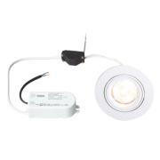 Robus Fixed Round Low Voltage Downlight White 12V
