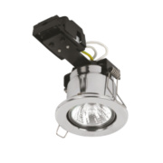 Sylvania Fixed Round Mains Volt Fire Rated Downlight Pol. Chr 240V