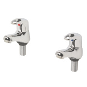 Swirl Loop Bathroom Basin Taps Pair