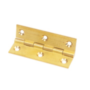 Solid Drawn Brass Hinge Self-Colour 76 x 41mm Pack of 2