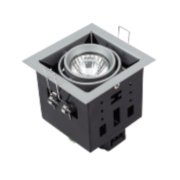 Halolite Recessed Satin Silver 1-Light Spotlight 240V