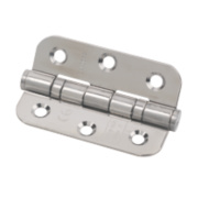 Eclipse Radius Ball Bearing Hinge Polished Steel 76 x 51mm Pk2