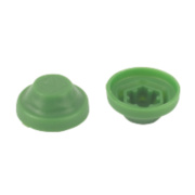 Rawlplug Protective Screw Caps Green Polypropylene M8 Pack of 100
