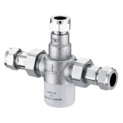 Franke Thermostatic 22mm Mixing Valve Chrome 142.5 x 40 x 103.5mm