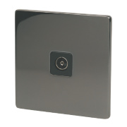 LAP 1-Gang Coaxial Socket Black Nickel
