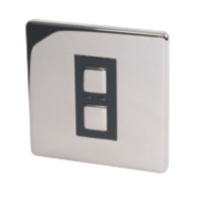 1-Gang Slave Dimmer Chrome 250W