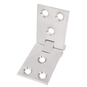 Counter Flap Hinge Satin Chrome 102 x 38mm Pack of 2