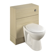 Bathroom WC Unit Inc Toilet & Cistern Oak Slab 600 x 300 x 810mm