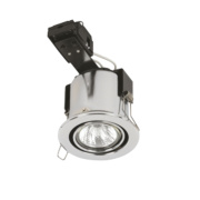 Sylvania Adjustable Round Mains Volt. Fire Rated Downlight Polished Chrome 240V