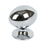 Oval Knob Polished Chrome 30mm Pack of 2