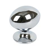 Oval Knob Polished Chrome 30mm Pack of 2
