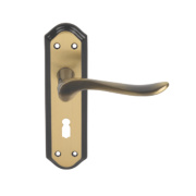 Carlisle Brass Lytham Lever on Backplate Latch Pair Florentine Bronze