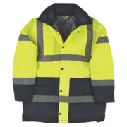 Hi-Vis 2-Tone Padded Coat Yellow/Black Large 43