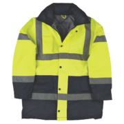Hi-Vis 2-Tone Padded Coat Yellow/Black Large 43