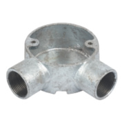 25mm Galvanised Angled Conduit Box