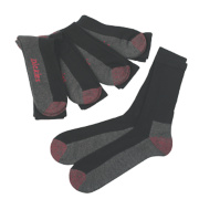 Dickies Cushion Crew Socks 5 Pairs Black Size 7-11 Size 7-11