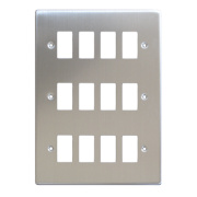 Varilight XDSPG12 12-Gang PowerGrid Faceplate Metal