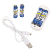 No Nonsense Rechargeable AA Batteries Pack of 4 + Free Charger