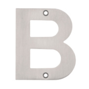 Eclipse Door Letter B Satin Stainless Steel