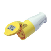 CED 110V 2-Pin + Earth Yellow Connector