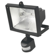Floodlight PIR 400W Black 8545Lm