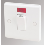 LAP 1-Gang 45A DP Cooker Switch with Neon White