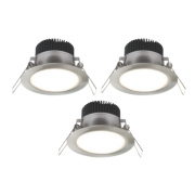 LAP Fixed Downlight Kit Brushed Chrome 4.5W 240V Pack of 3