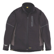 DeWalt Soft Shell Jacket Black/Grey Large 44