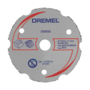 Dremel DSM20 Saw-Max Multipurpose Carbide Cutting Wheel DSM500 55 x 5mm